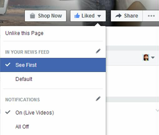 How to see page posts on your news feed